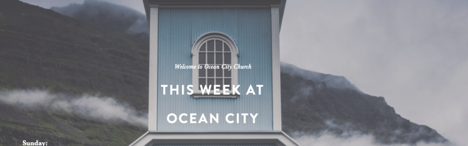 Ocean City Church Web Design Portfolio Mobile