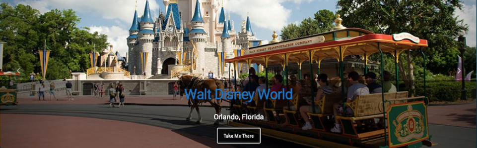 Toontown Travel Mobile Landing Page